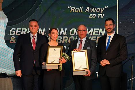 EO-programma Rail Away wint Golden Pen