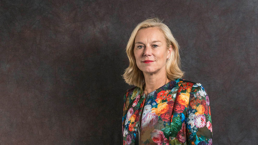 Minister Sigrid Kaag op ZOA-businessevent